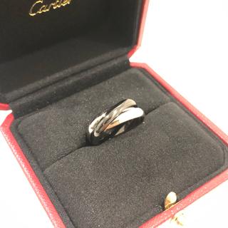 カルティエ(Cartier)のCartier トリニティリング WG×ブラックセラミック(リング(指輪))