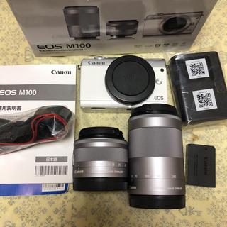 Canon - CANON ミラーレス一眼カメラ EOS M100 ダブルレンズキット  美品
