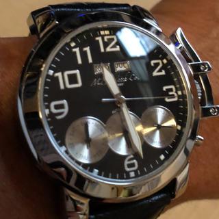 MZI 自動巻腕時計‼️ クロコ型押し革ベルトブラック(腕時計(アナログ))