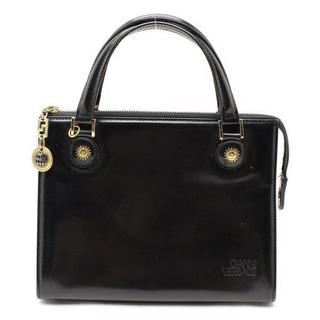 ジャンニヴェルサーチ(Gianni Versace)のVERSACEジャンニヴェルサーチ2WAY皮革レザーショルダーハンドバッグ鞄(ショルダーバッグ)