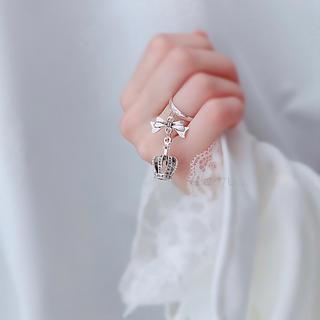 6/23新作* crown & ribbon ring(リング)