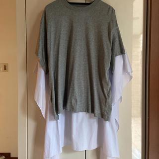 エムエムシックス(MM6)のMM6メゾンマルジェラ新品✨オーバーサイズチューニック カットソー(Tシャツ(半袖/袖なし))