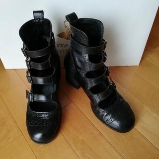 ジェーンマープル(JaneMarple)の【トマトさま専用】ジェーンマープル 4ストラップシューズ Sサイズ 黒(ブーツ)