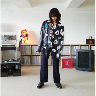 サンシー(SUNSEA)のSUNSEA 19ss SNM-BLUE TEKETEKE PANTS(スラックス)