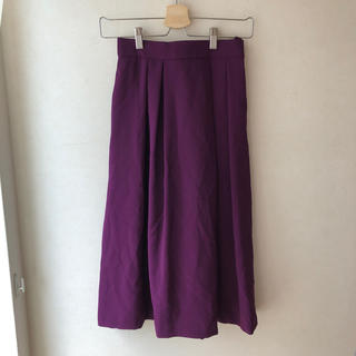 アルファキュービック(ALPHA CUBIC)のアルファードキュービック ALPHA CUBIC パープルフレアースカート(ひざ丈スカート)
