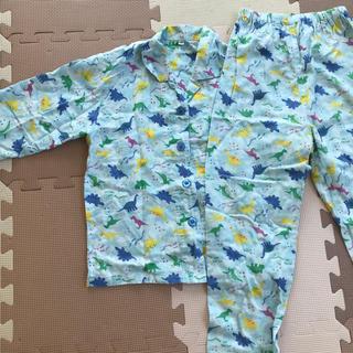 イオン(AEON)の男児 恐竜柄長袖パジャマ 120cm(パジャマ)