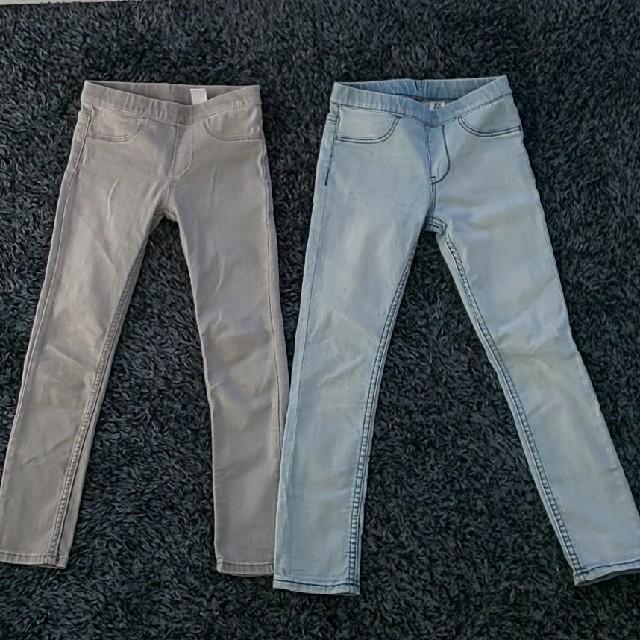 H&M(エイチアンドエム)のH&M 120 スキニージーンズセット キッズ/ベビー/マタニティのキッズ服男の子用(90cm~)(パンツ/スパッツ)の商品写真