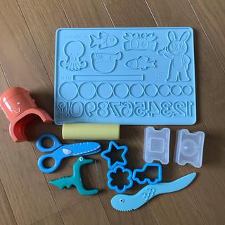 アガツマ(Agatsuma)のねんDO ねんど板 ヘラ ハサミ(知育玩具)