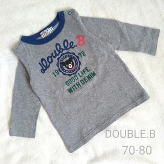 ダブルビー(DOUBLE.B)のDOUBLE.B  ダブルビー カレッジロゴ風プリント ロンT 70-80(Tシャツ)
