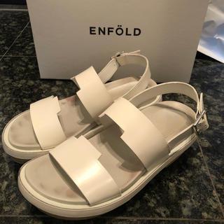 エンフォルド(ENFOLD)のenfold エンフォルド サンダル 白 36 23.5(サンダル)