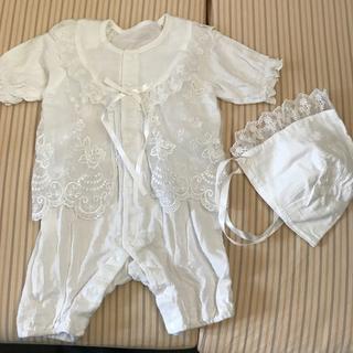 新生児セレモニードレスカバーオール6070 1回着用出産準備夏向き(セレモニードレス/スーツ)