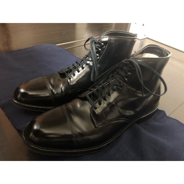 Alden(オールデン)のⓂ︎様専用 オールデン alden ブラックコードバン キャップトゥブーツ メンズの靴/シューズ(ブーツ)の商品写真