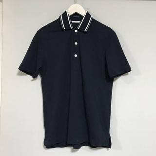 トゥモローランド(TOMORROWLAND)の美品本物トゥモローランドTOMORROWLAND襟ニット切り返しポロシャツ(ポロシャツ)