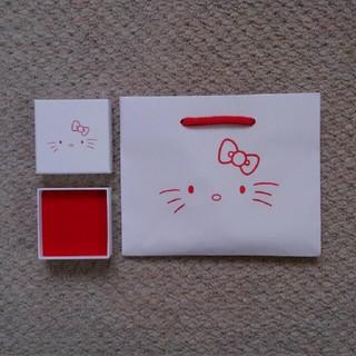 ヨンドシー(4℃)のハローキティ☆HelloKitty☆サンリオ☆Sanrio☆アクセサリーケース(ショップ袋)