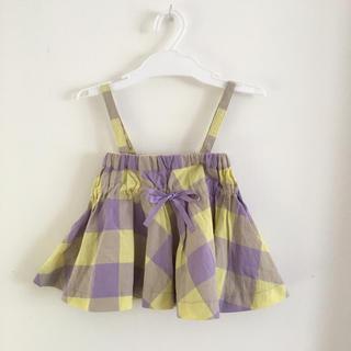 プティマイン(petit main)の美品  2way キャミソール スカート 80㎝(タンクトップ/キャミソール)