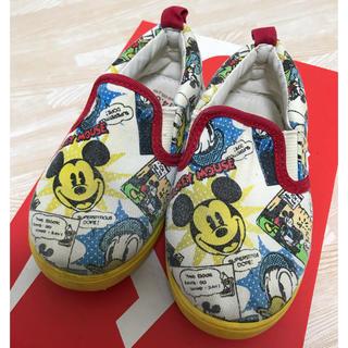 ディズニー(Disney)のミッキー ドナルド スリッポン 14㎝(スリッポン)