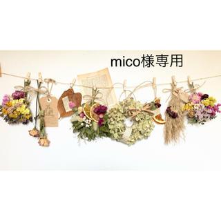 mico様専用 ドライフラワー ナチュラルガーランド 509(ドライフラワー)
