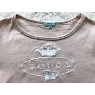 トッカ(TOCCA)の★トッカ★ロゴ刺繍 カットソー トップス★110★ピンク★(Tシャツ/カットソー)