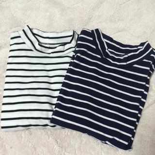 ジーユー(GU)のボトルネック 2枚セット(Tシャツ(長袖/七分))