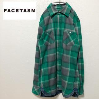 ファセッタズム(FACETASM)の【FACETASM】異素材ドッキング ミドル丈デザインシャツ M(シャツ)