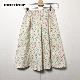 メリージェニー(merry jenny)の【merry jenny】さくらんぼ ふんわりスカート(ひざ丈スカート)