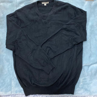 ユニクロ(UNIQLO)のユニクロ メンズ カシミヤセーター L 黒 おまけ付き(ニット/セーター)