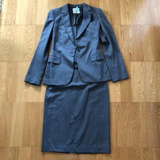 エストネーション(ESTNATION)のESTNATION UMA グレー スカート スーツ(スーツ)