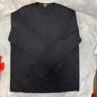 ユニクロ(UNIQLO)のユニクロ メンズ 紺セーター X L(ニット/セーター)