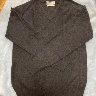 ユニクロ(UNIQLO)のユニクロ メンズ カシミヤ セーター グレー X L(ニット/セーター)