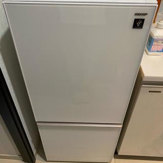 シャープ(SHARP)の【SHARP 2ドア】2018年製の冷凍冷蔵庫137L/使用期間1年6ヶ月(冷蔵庫)