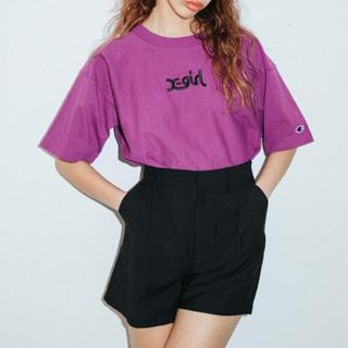 エックスガール(X-girl)のx-girl×CHAMPION REVERSE WEAVE S/S TEE(Tシャツ(半袖/袖なし))