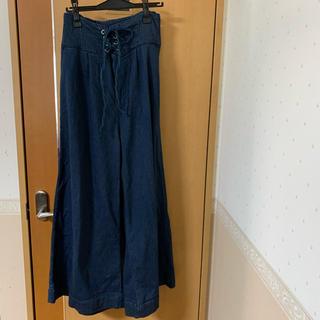 デニム キュロットスカート 4L(キュロット)