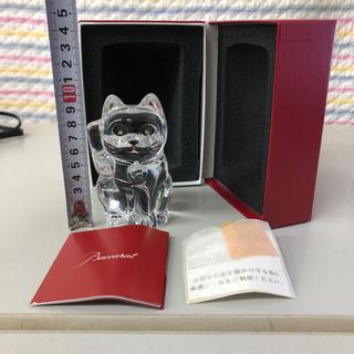 バカラ(Baccarat)のBaccarat バカラ 招き猫 ネコ キャット 幸福 高級 ガラス セレブ(置物)