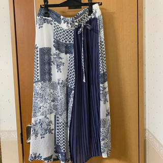 スカート 3L ブルーローズ(ロングスカート)