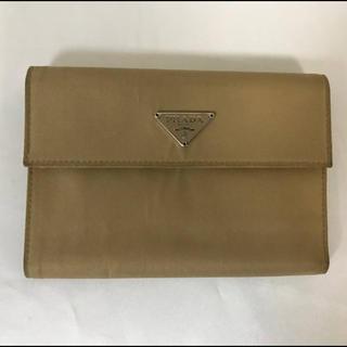 プラダ(PRADA)の本物プラダPRADA本革サフィアーノレザーナイロン二つ折りサイフ財布札入れ(折り財布)