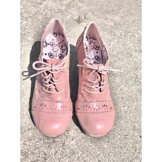 アンクルージュ(Ank Rouge)のアンクルージュ ピンクの編み上げブーツ(ブーツ)