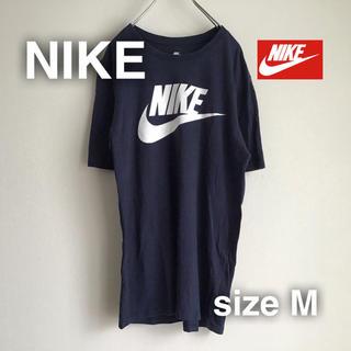 ナイキ(NIKE)のNIKE Tシャツ ビックロゴ フロントプリント M ネイビ(Tシャツ/カットソー(半袖/袖なし))