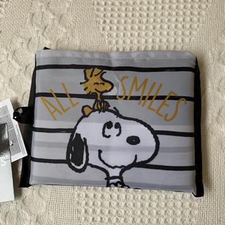 スヌーピー(SNOOPY)の《新品  タグ付き》 スヌーピー  エコバッグ       NO.19 ボーダー(エコバッグ)