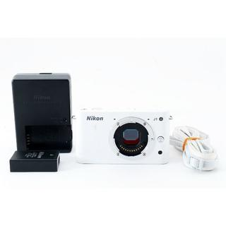 ニコン(Nikon)の ニコンNikon 1 J1 ボディ ホワイト デジカメ #503859(コンパクトデジタルカメラ)