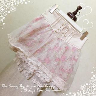 リズリサ(LIZ LISA)のリズリサ♡オーガンジーキュロットスカート(ミニスカート)
