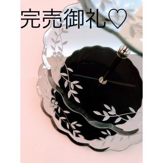 ローラアシュレイ(LAURA ASHLEY)のローラアシュレイ★ベネチアンスタイル♪ガラスの3段ケーキ皿(食器)