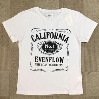 イーブンフロー(evenflo)のイーブンフロウEVENFLOW メンズMサイズ 半袖ロゴTシャツ 白 送料無料(Tシャツ/カットソー(半袖/袖なし))