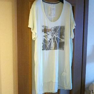 アウラアイラ(AULA AILA)のAULA AILAチュニックTシャツカットソートップスレディース送料無料(Tシャツ(半袖/袖なし))