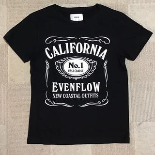 イーブンフロー(evenflo)のEVENFLOWイーブンフロウ ロゴTシャツ 新品 送料無料 ブラック メンズS(Tシャツ/カットソー(半袖/袖なし))