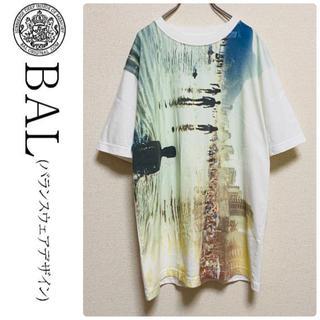 バル(BAL)の一点物 bal バル 総柄 フォト Tシャツ(Tシャツ/カットソー(半袖/袖なし))