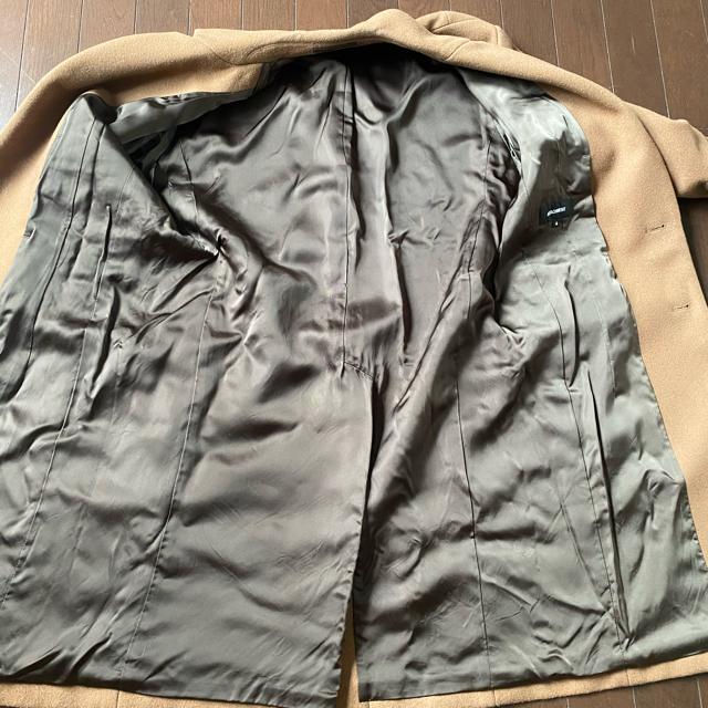 ATTACHIMENT(アタッチメント)のATTACHMENT  カシミア混平二重メルトン シングルチェスターコート  メンズのジャケット/アウター(チェスターコート)の商品写真