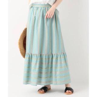 イエナスローブ(IENA SLOBE)の新品 イエナ スローブ スローヴ ストライプロングスカート(ロングスカート)