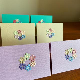 花冠のミニメッセージカード 6枚(カード/レター/ラッピング)