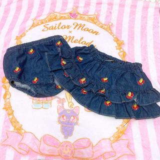 HYSTERIC MINI - 刺繍スカートブルマセット