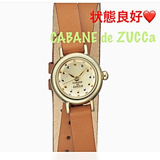 カバンドズッカ(CABANE de ZUCCa)の状態良好❤️CABANE de ZUCCa  二重巻き 牛革ベルト 腕時計(腕時計)